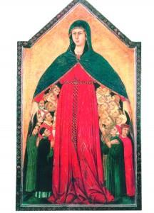 La Vierge de Miséricorde Simone Martini 1284-1344 Pinacothèque de Sienne