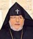 Le Catholicos suprême de tous les Arméniens Karekin II