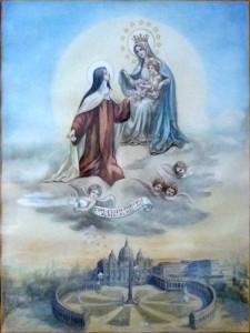 Sainte Thérèse de l'Enfant Jésus et la Vierge Marie
