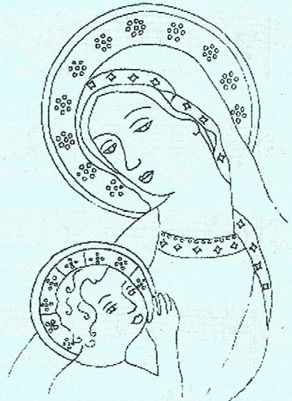 Marie couronnée d'étoiles et l'Enfant Jésus
