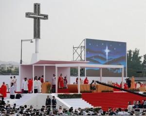Messe de canonisation des martyrs à Séoul