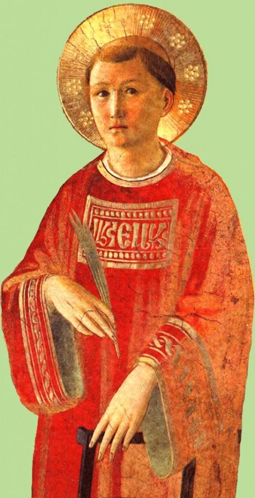 Saint Laurent, revêtu de la dalmatique des Diacres, par le bienheureux Fra Angélico, Dominicain, vers 1450 - Couvent Saint-Marc à Florence