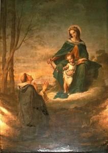 Vierge au Rosaire et saint Dominique le recevant - église Saint-Cannat à Marseille