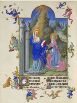 Les Très Riches Heures du duc de Berry Folio Folio 38v - La Visitation