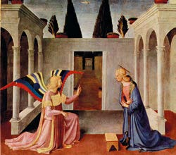 Annonciation - Fra Angelico 1387-1455 Tempera sur bois Florence
