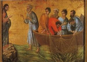Saint Pierre et les Apôtres - la pêche miraculeuse - Duccio
