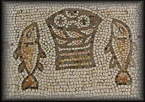 pains et poissons, mosaïque de Tabgha