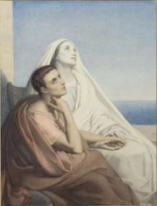 Scheffer Augustin et Monique à Ostie