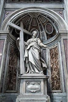 Statue de Sainte Hélène par Andrea Bolgi Basilique St-Pierre Vatican