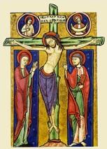 Christ avec Marie et Jean au pied de la Croix