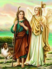 Saint Raphaël et Tobie |O.D.M pinxit