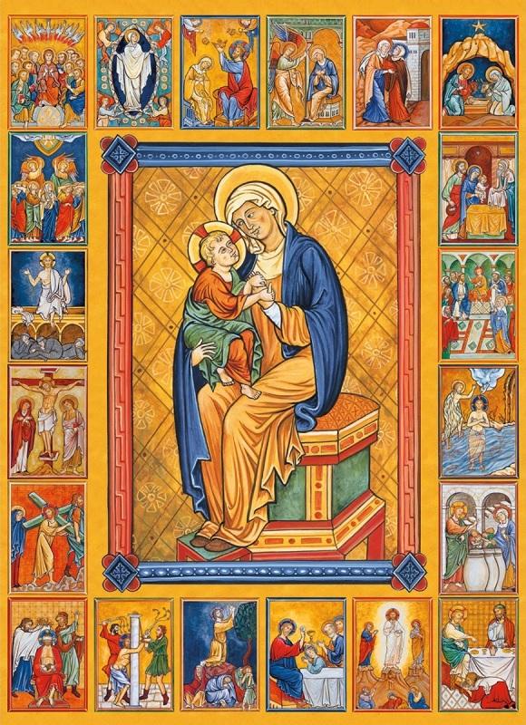 les Mystères du Rosaire d'après le psautier d'Ingeburge XIIe siècle