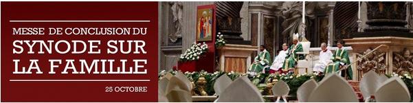 Messe de conclusion du Synode sur la famille