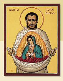 Saint Juan Diego et Notre Dame de Guadalupe