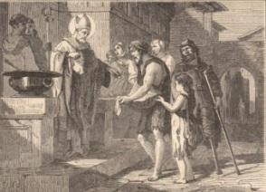 Saint aubin évêque d'angers et le peuple des pauvres