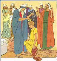 David oint par le prophète Samuel
