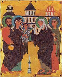La Présentation de Jésus au Temple avec Syméon et Anne
