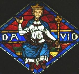 Le roi David motif d'un vitrail de ND de Chartres