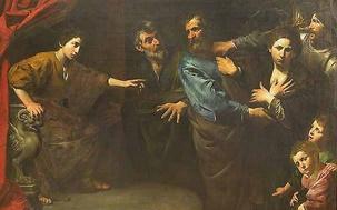 L'Innocence de Suzanne reconnue - Valentin de Boulogne vers 1625 - Louvres