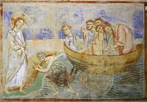 La pêche miraculeuse, Mosaïque de Monreale XII