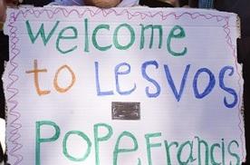 Le Pape à Lesbos