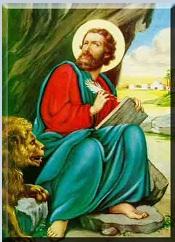 Saint Marc l'évangélist et le lion.