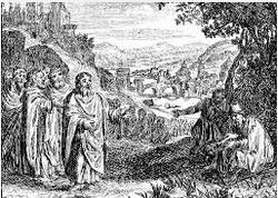 Jésus et le mendiant aveugle Nicolas Fontaine 1625-1709
