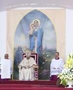Vierge à l'enfant à Gyumri