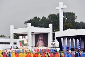 messe au parc de Blonia