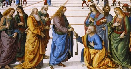 Le Pérugin - Remise des clefs à Saint Pierre