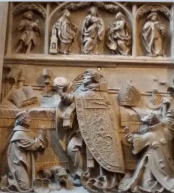 Jean Sobieski servant la messe avant la bataille - cathédrale Saint Étienne Vienne Autriche