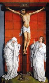 Roger van den Weyden La Crucifixion vers 1460 Escorial Palace Madrid.