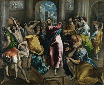 le-christ-chassant-les-marchands-du-temple-par-el-greco-londres