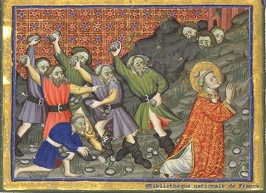 Lapidation de Saint Étienne BNF