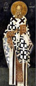 Grégoire de Nazianze, fresque de Kariye Camii, Constantinople