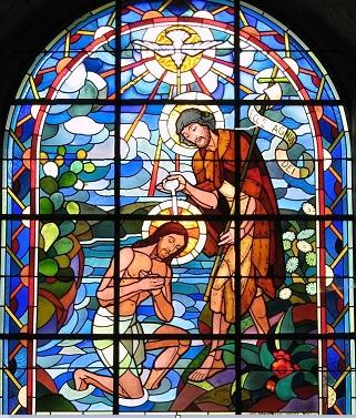 Le-Baptême-de-Jésus Abbatiale-de-Saint-Florent-le-Vieil (49)