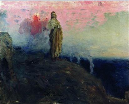la-tentation-du-Christ-1903-Ilya-Repin