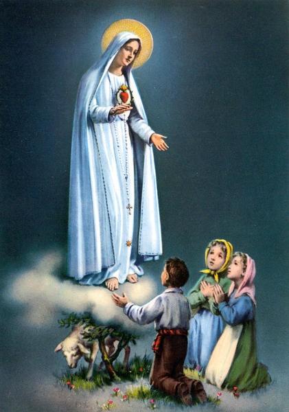 Notre-Dame-de-Fatima-et-les-trois-enfants