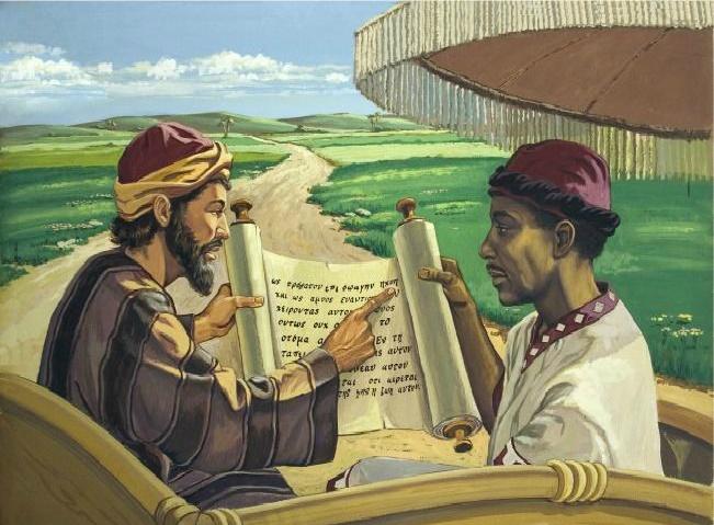 l'Apôtre Philippe et lintendant de la reine Candace