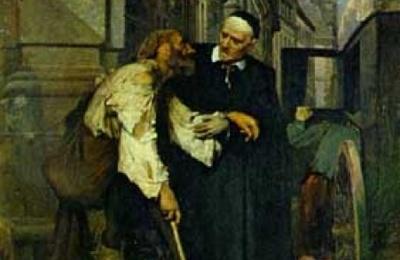 Saint Vincent et un pauvre infirme