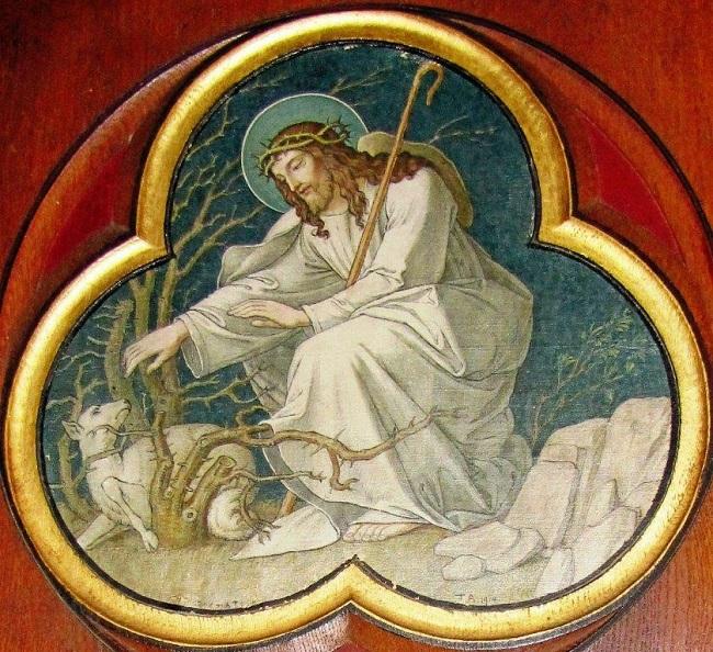 Joseph Asal - le bon Pasteur - chapelle du Carmel Marienthal Alsace