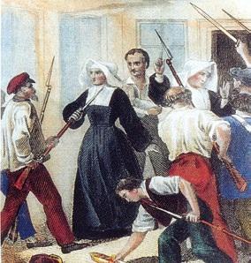 Sœur Catherine Labouré au milieu des révolutionnaires