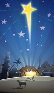 l'étoile et la crèche pour Noël