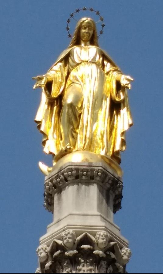 Colonne de la Vierge Marie Kaptol Place Zabreb Croatie
