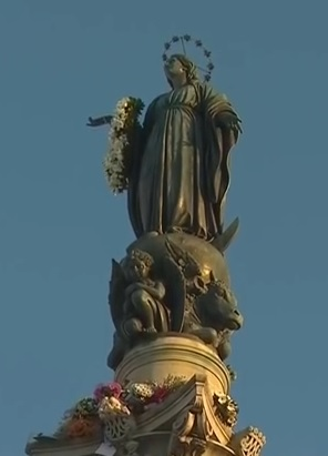 colonne de l'Immaculée - place d'Espagne à Rome