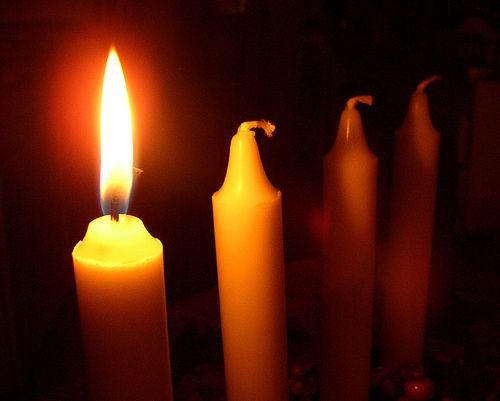 bougies de l'Avent 1er dimanche