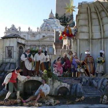 Crèche place Saint Pierre à Rome (détail central)