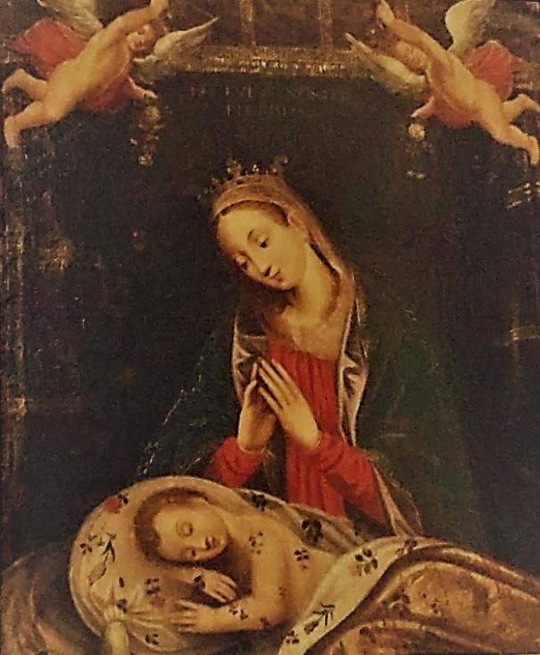 La Sainte Mère veillant sur son enfant endormi - abbatiale Sainte Croix de Bordeaux