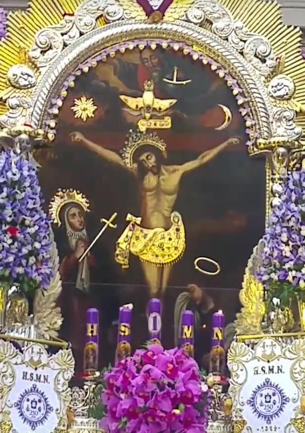 Christ de Pachacamilla - Le Seigneur des miracles - Sanctuaire des Nazaréens, (Lima, Pérou)