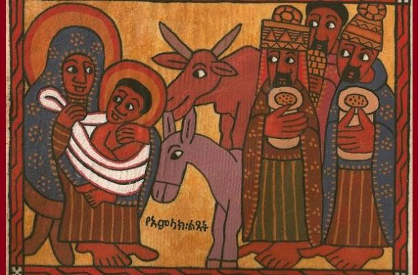 Le verbe se fait chair - icône tradition copte éthiopienne